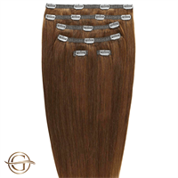 Clip on hair extensions #12 Ljusbrun - 7 delar - 50 cm | Gold24