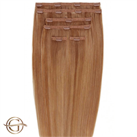 Clip on hair extensions #30 Kastanj - 7 delar - 50 cm | Gold24