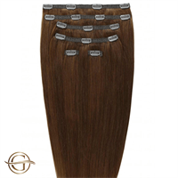 Clip on hair extensions #6 Ljusbrun - 7 delar - 50 cm | Gold24