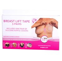 Brösttejp - Bye Bra Push-Up Tape - Stl. F & H + Silikon Nipple Covers