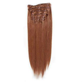 Clip-on Hair Extensions 65 cm #33 Röd