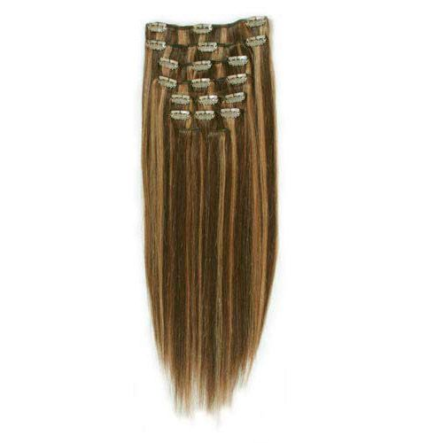Clip-on Hair Extensions 65 cm #4/27 Caramell Mix