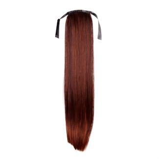 Pony tail extensions syntet Straight Röd 33#