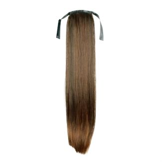 Pony tail extensions syntet straight Ljus brun 6#