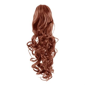 Pony tail extensions syntet Curly Röd 33#