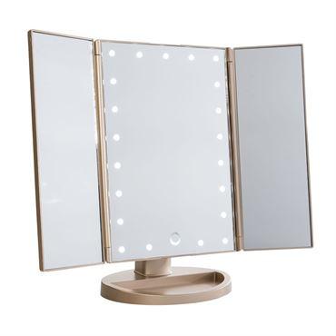 Uniq Hollywood Makeup Spegel Trifold Spegel Med Led Ljus