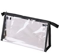 Check-in Bag Transparent -Black