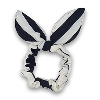 Scrunchie med rosett - Sailor Stripes