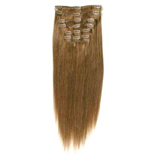 Clip-on Hair Extensions 65 cm #12 Golden Brown