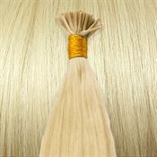 50 cm Cold Fusion hair extensions Platinablond 60#