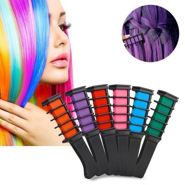 färgkritor till håret