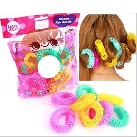 Fashion Spiral Hair rollers / Curlers 8 stk