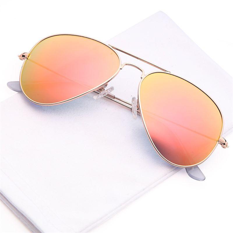 Lux® Aviator Pilot Solglasögon - Rosa med guldbågar 5aafdef4ef6d7