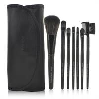 Professional Makeup up set med 6 borstar - svart