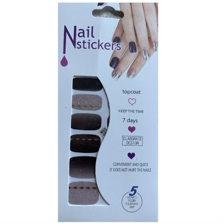 Nail Stickers - Nail Wrap 12 st no. 18