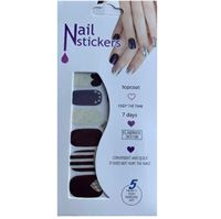 Nail Stickers - Nail Wrap 12 st no. 09