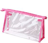 Check-in Bag transparent -Pink