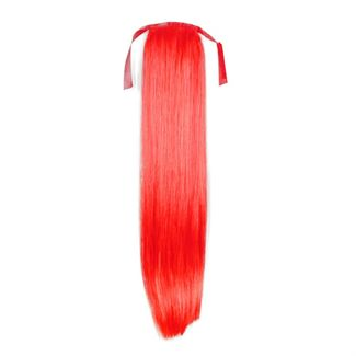 Pony tail extensions syntet Straight Total Red