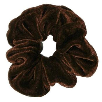 Scrunchie hårsnodd - Cotton Brun