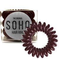 SOHO® Spiral Hårsnoddar, CHOCOLATE BROWN - 3 st.