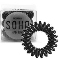 SOHO® Spiral Hårsnoddar, ALL BLACK - 3 st.