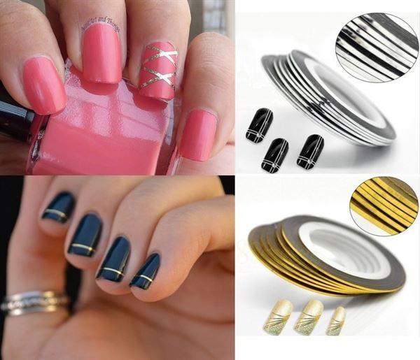 striping tejp naglar