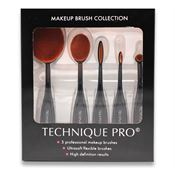 Technique Pro® Oval sminkborstar - 5 set
