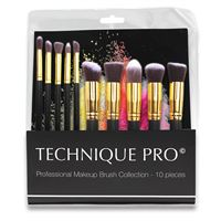Technique Pro Makeupborstar, Gold edition - 10 st