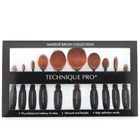 Technique PRO® Ovala Sminkborstar - 10 set