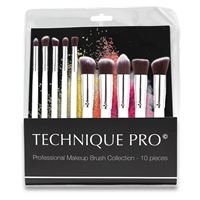 Technique Pro Makeupborstar, silver edition - 10 st