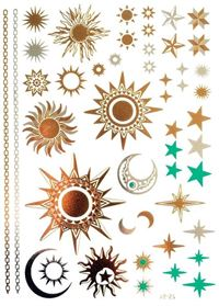 Metallic Flash Tattoo No. 38